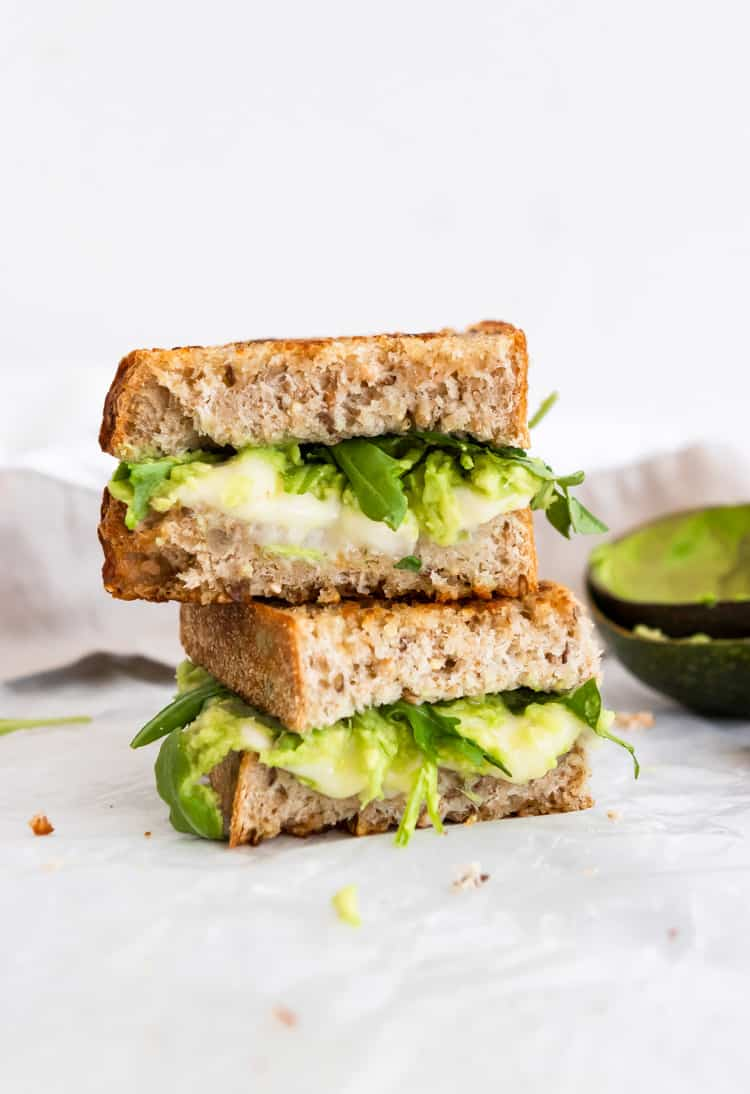 Havarti and Avocado Grilled Cheese Sandwich.