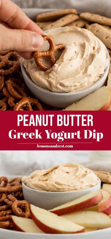 Peanut Butter Yogurt Dip Pin.