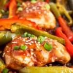 Honey Garlic Chicken with peppers.
