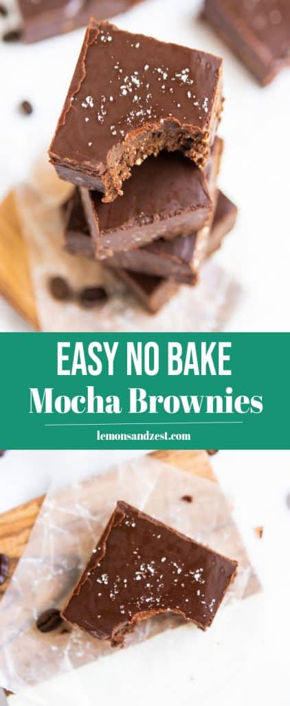 No Bake Mocha Brownies Pin.