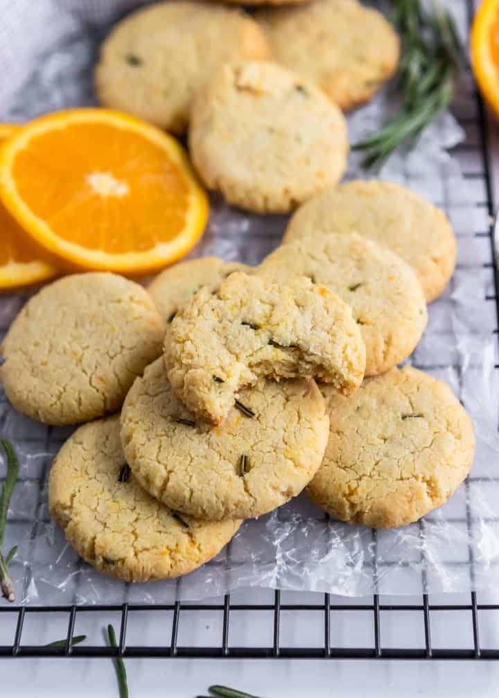 Rosemary Orange Cookies.