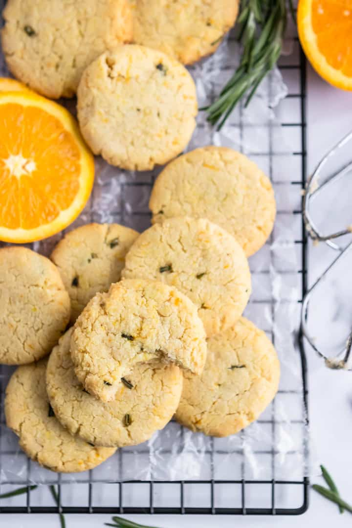 Rosemary Orange Cookies.
