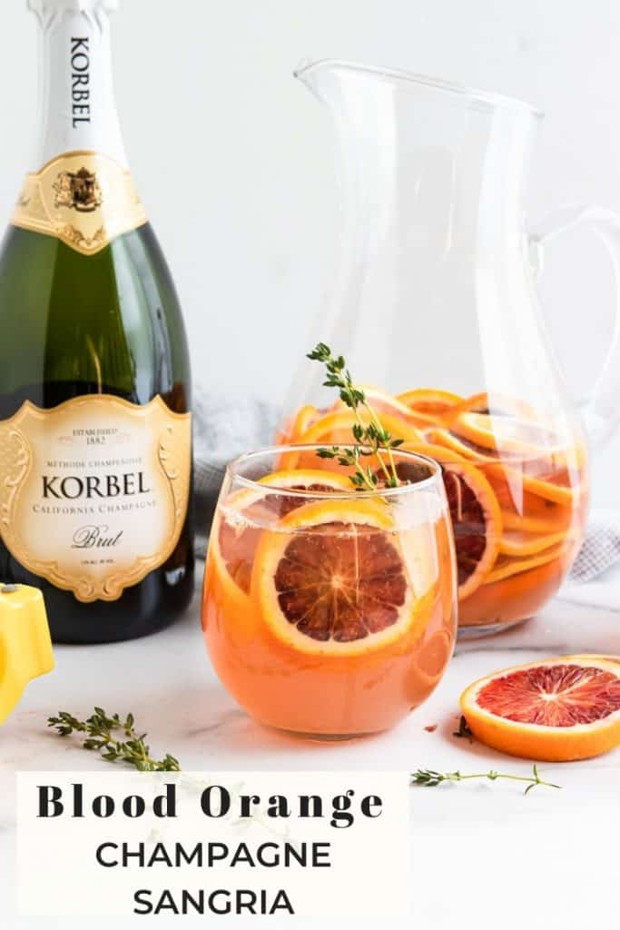 Blood Orange Champagne Sangria Pin