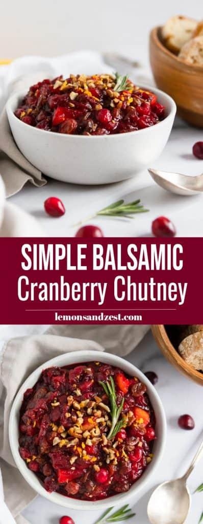 Cranberry Chutney Recipe Pin.