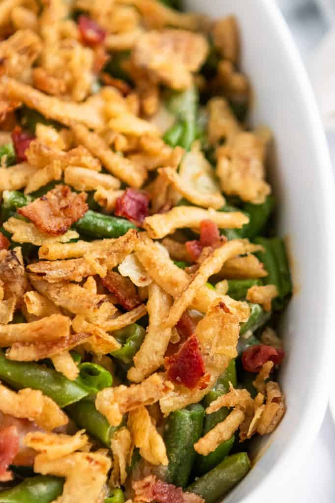 Parmesan Bacon Green Bean Casserole.