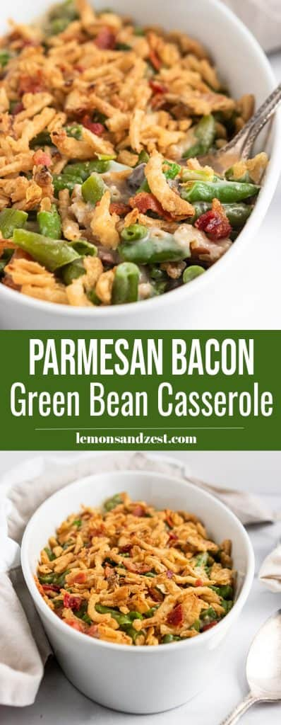Parmesan Bacon Green Bean Casserole Pin