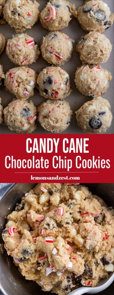 Candy Cane Chocolate Chip Cookies Pin