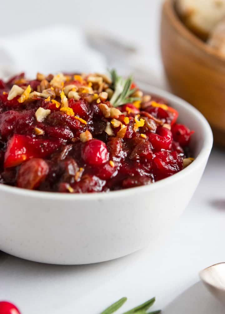 Cranberry Chutney with pecans and orange zest.