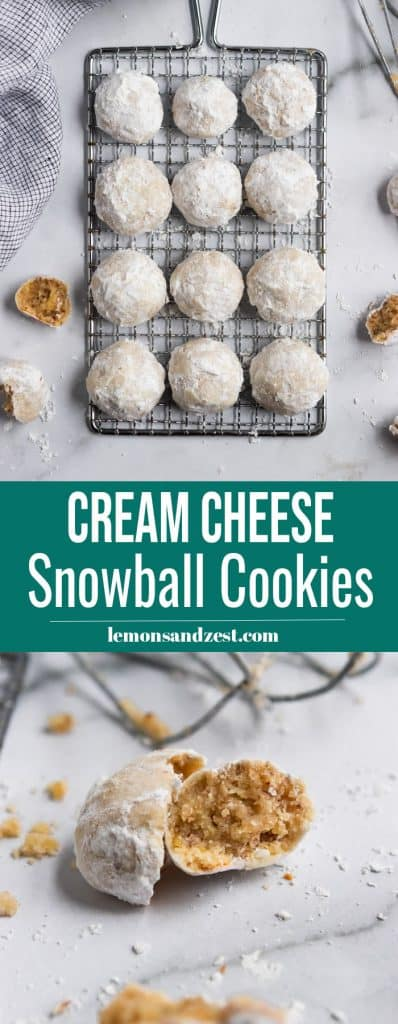 Cream Cheese Snowball Cookies Pin.