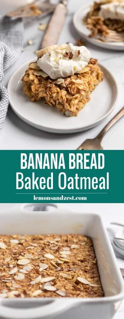 Banana Baked Oatmeal Pin.