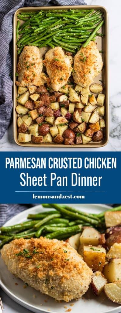 Parmesan Crusted Chicken Sheet Pan Dinner Pin.