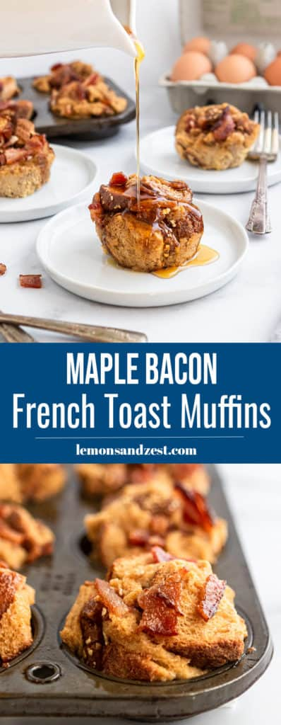 Maple Bacon French Toast Muffins Pin.