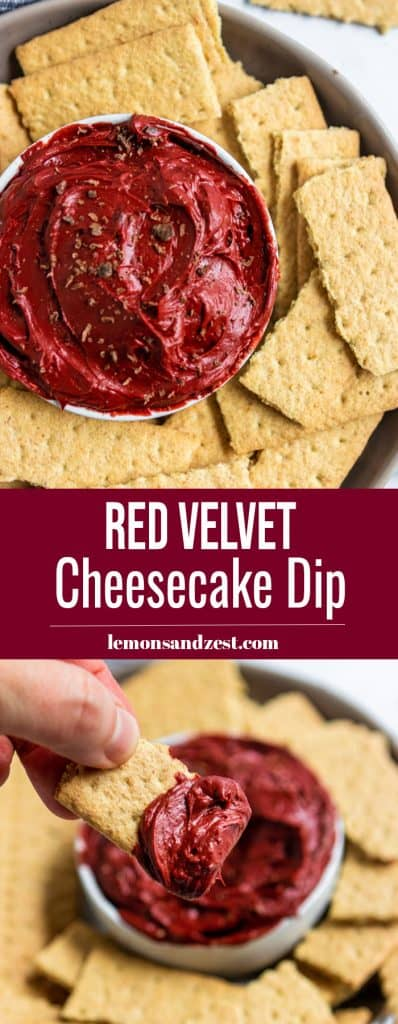 Red Velvet Cheesecake Dip Pin.