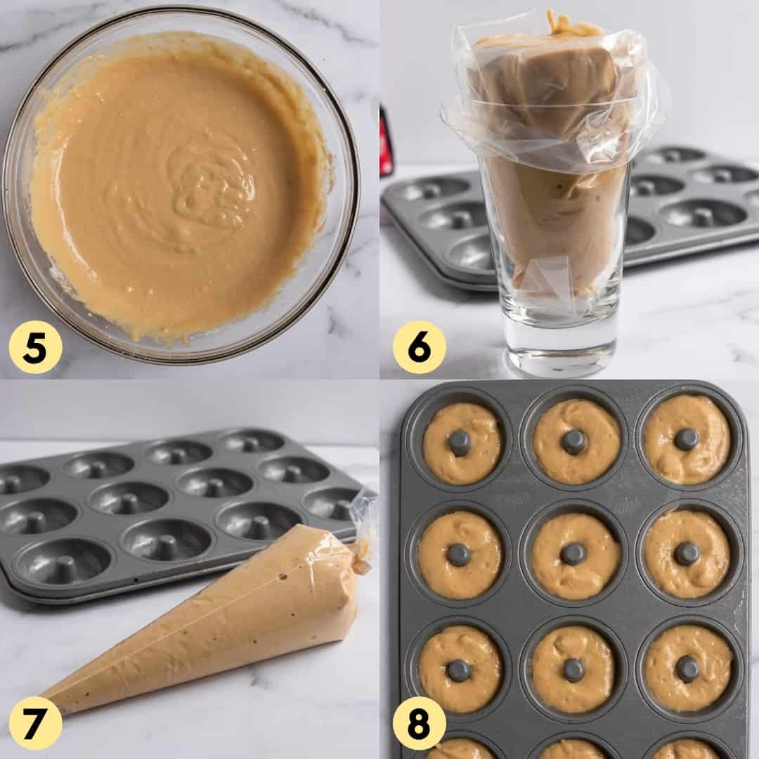 Process shots for making recipe.