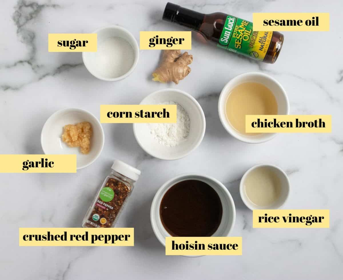 Sauce ingredients.