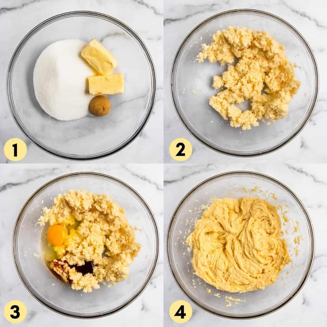 Steps to make birthday cake sugar cookies.