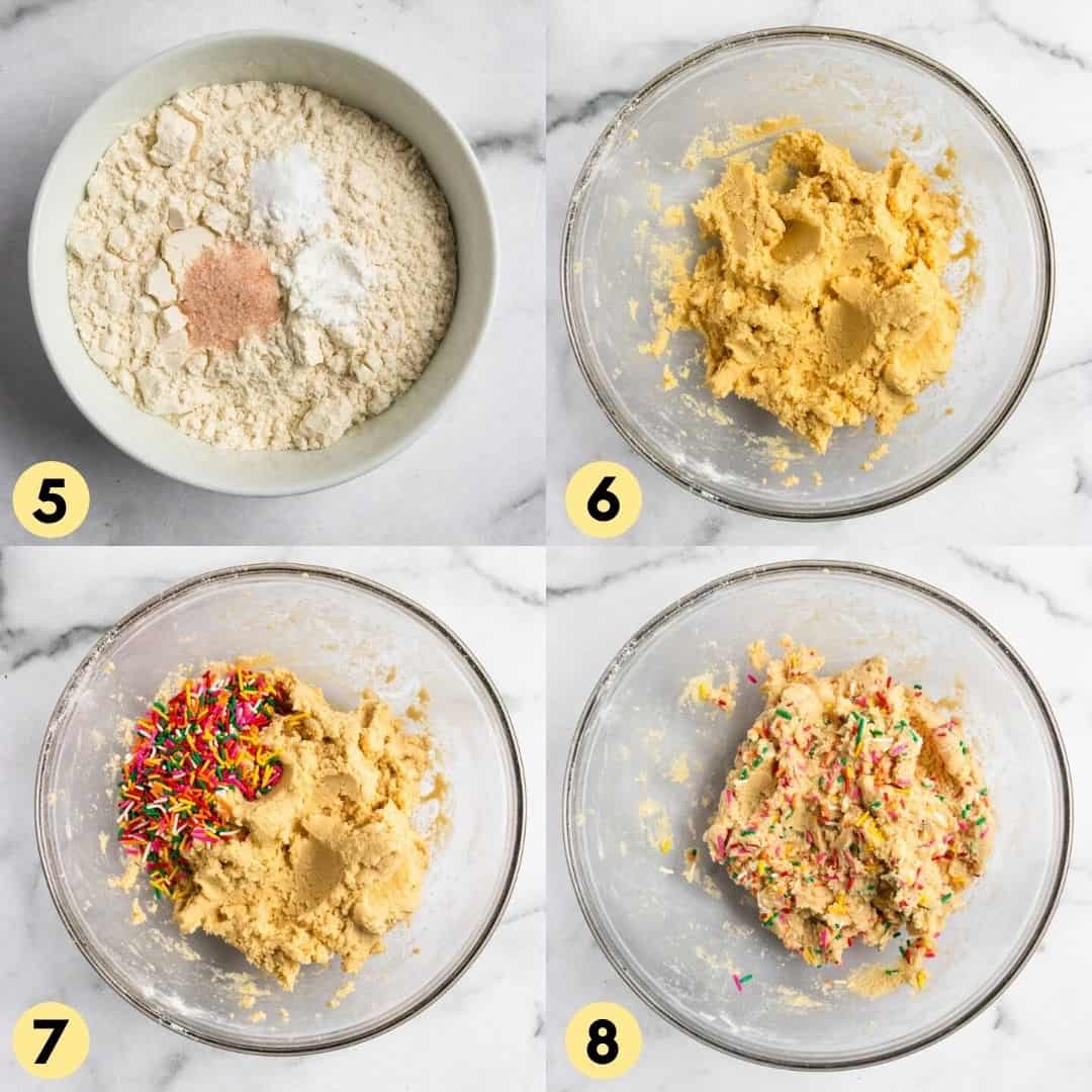 Steps to make cookie recipe.