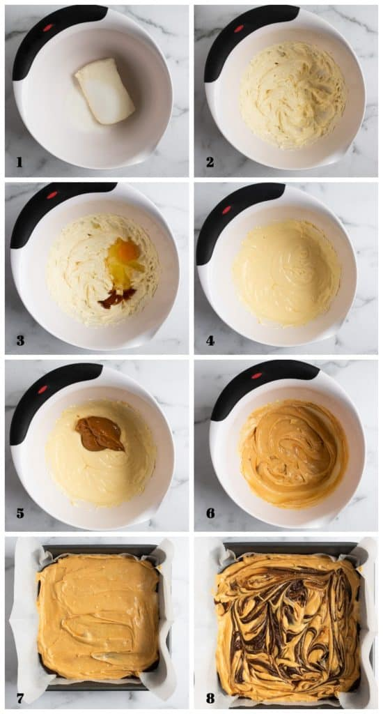 Steps to make cheesecake layer.