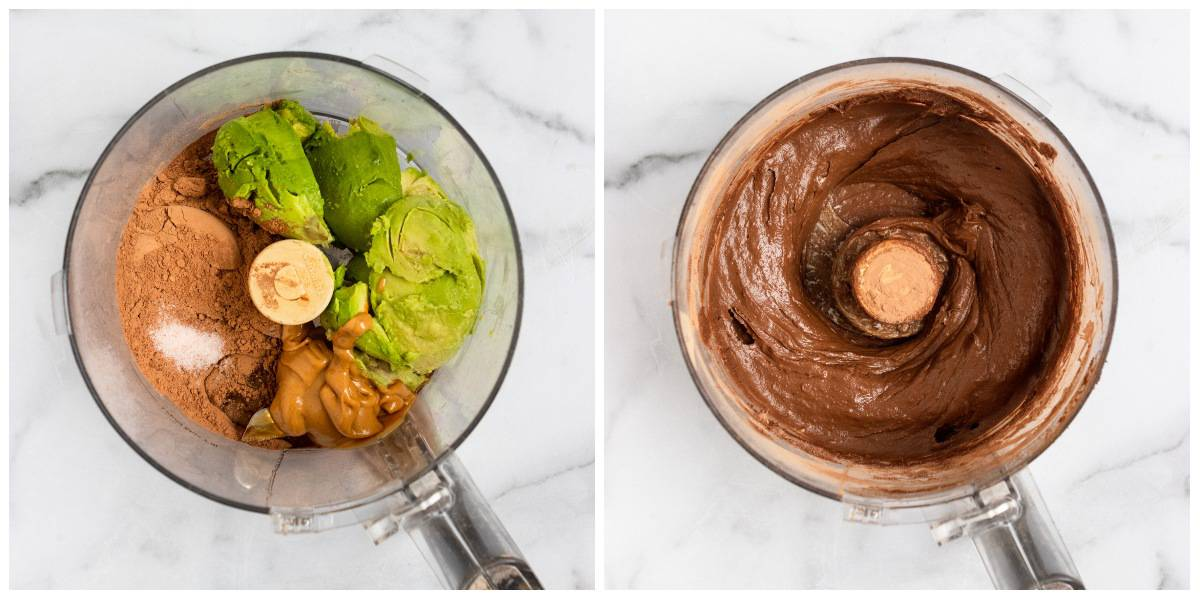 Steps to make Peanut Butter Chocolate Avocado Mousse.