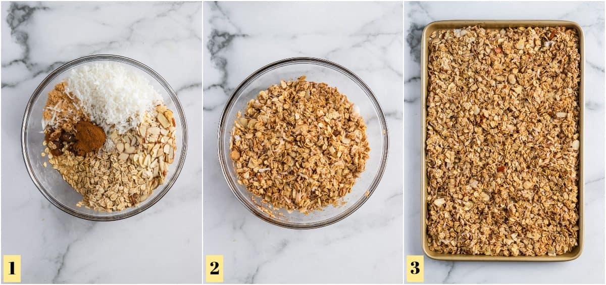 How to make granola process shots.