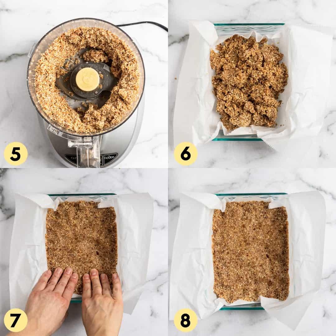 Process shots to make homemade energy bars.