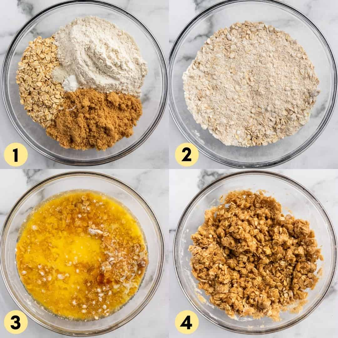 Recipe process shots steps 1 through 4.