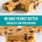 Perfect bars with chocolate chips.