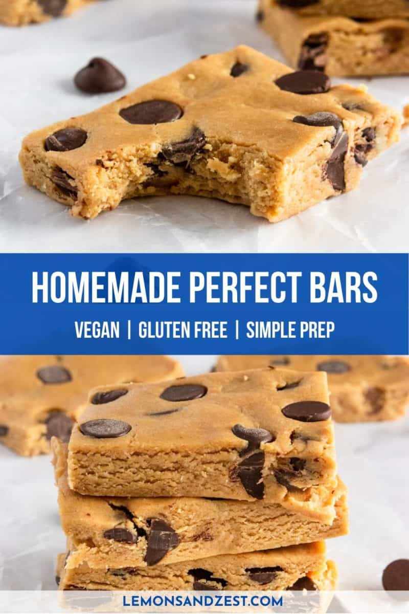 No bake protein bar with chocolate chips.