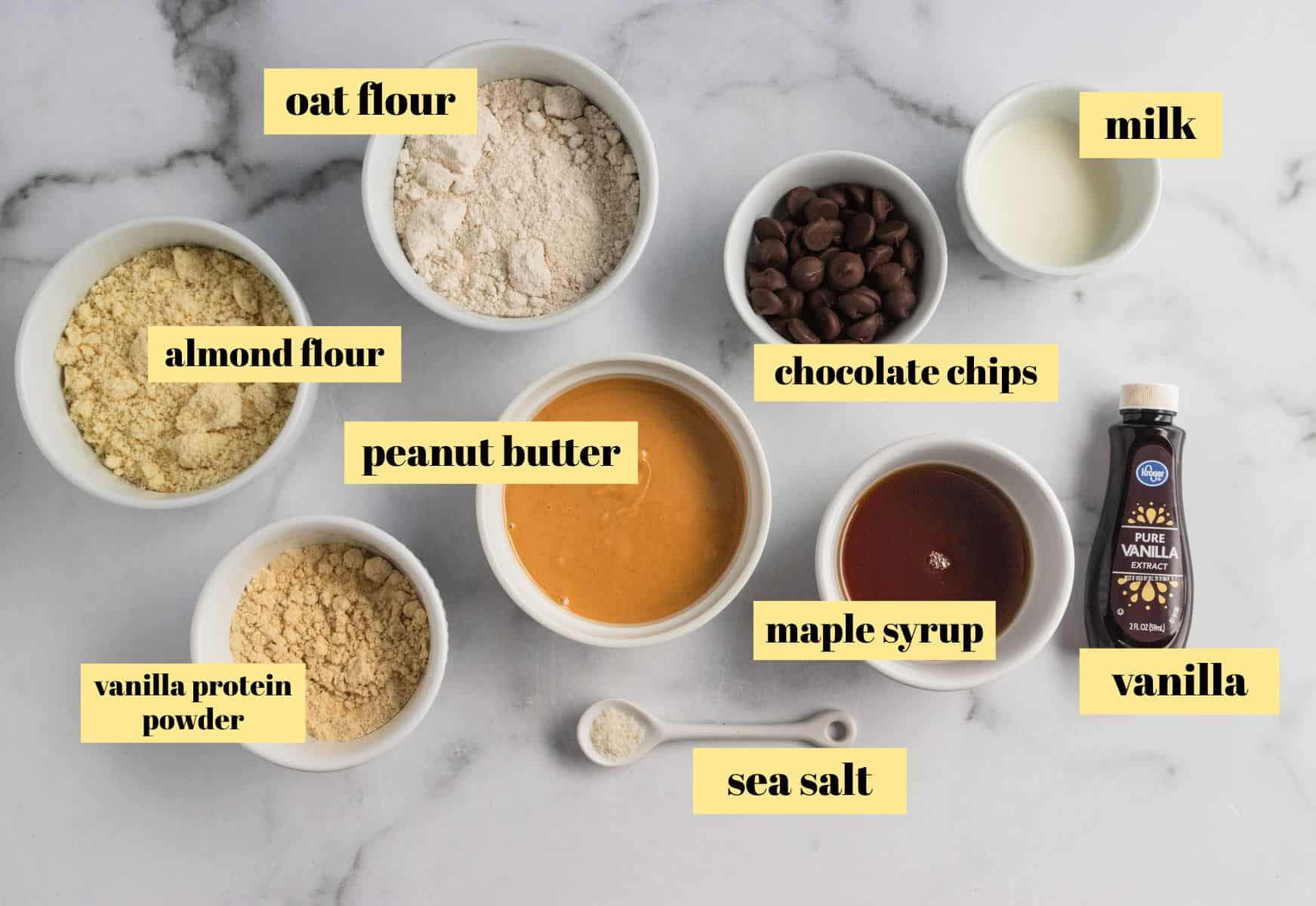 Ingredients to make protein bars.