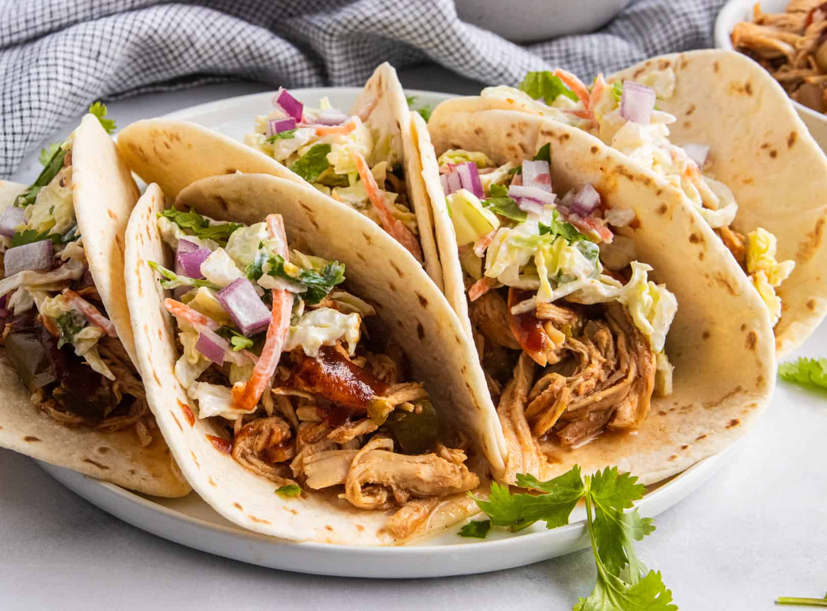 Slow Cooker Bbq Chicken Tacos With Simple Slaw Lemons Zest