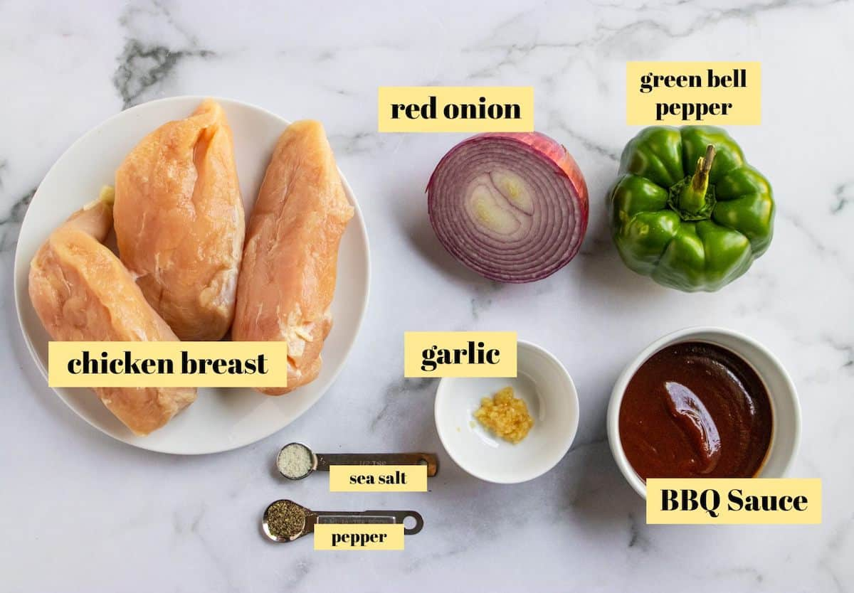 Chicken BBQ Tacos Ingredients.