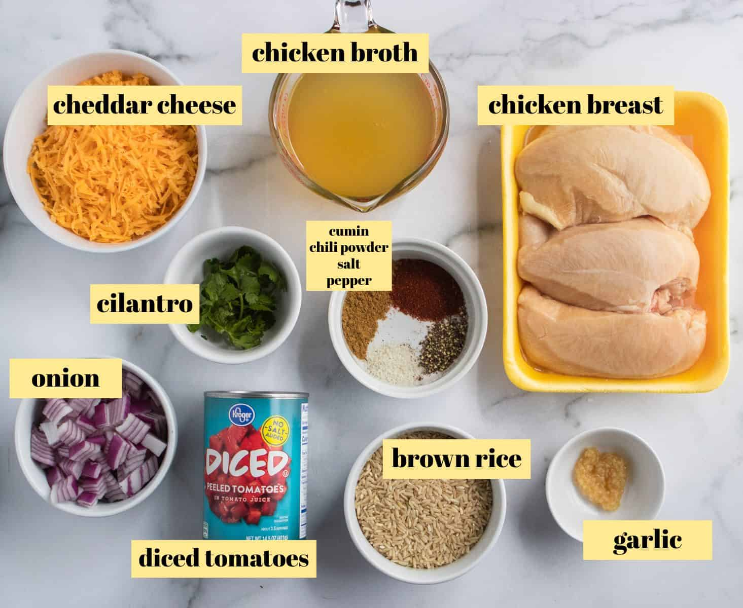 Ingredients to make recipe.