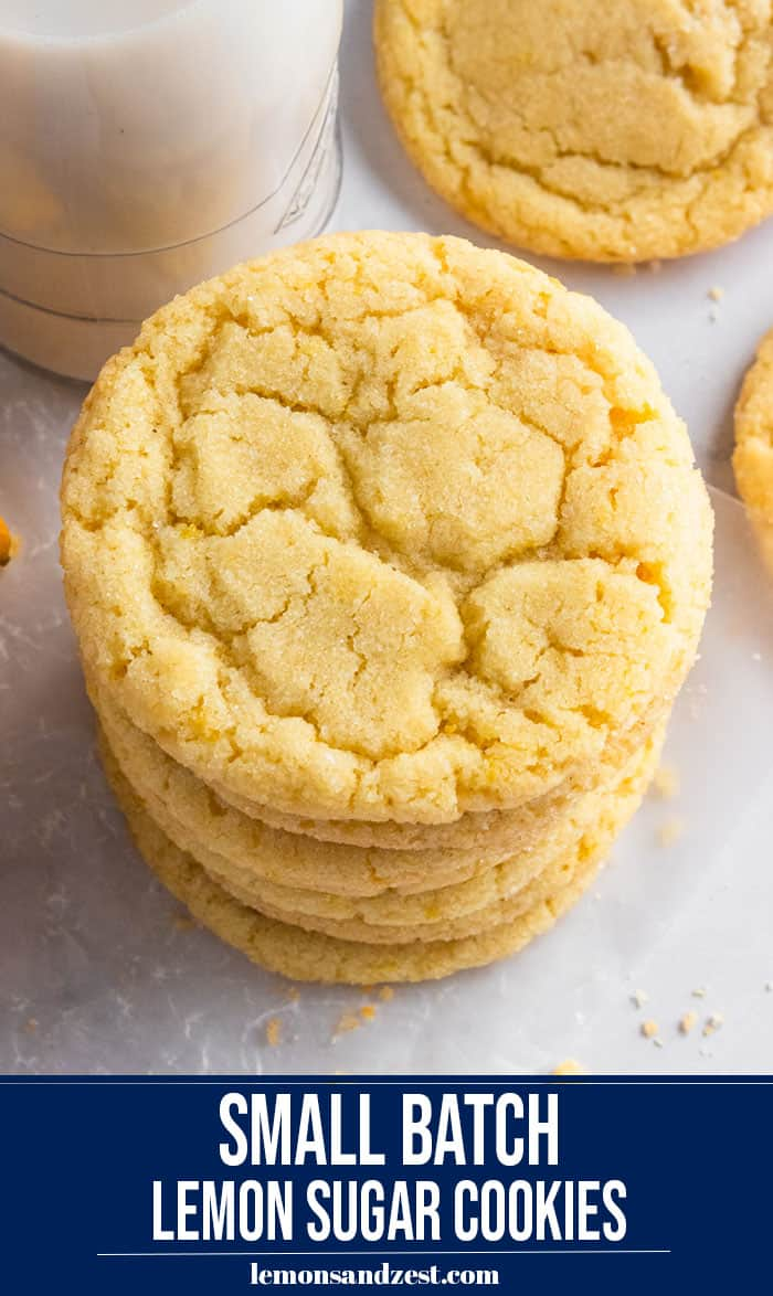 Stacked lemon sugar cookies.