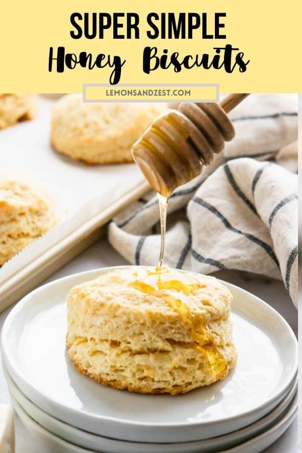 Biscuit with honey drizzle.
