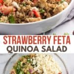 Quinoa salad with strawberries.