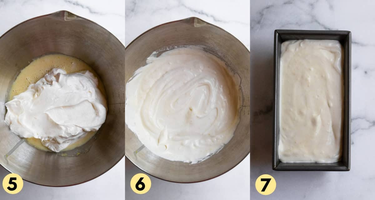Mixed whipped cream and condensed milk in mixing bowl.