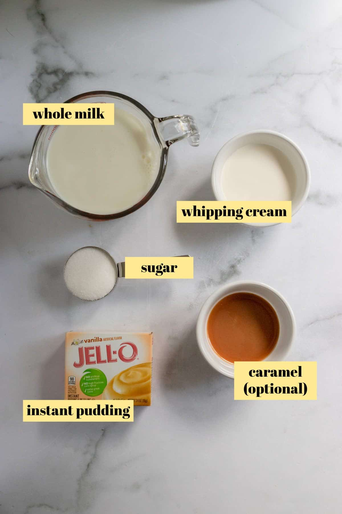 Ingredients needed to make recipe.