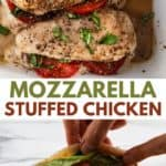 mozzarella stuffed chicken baked.