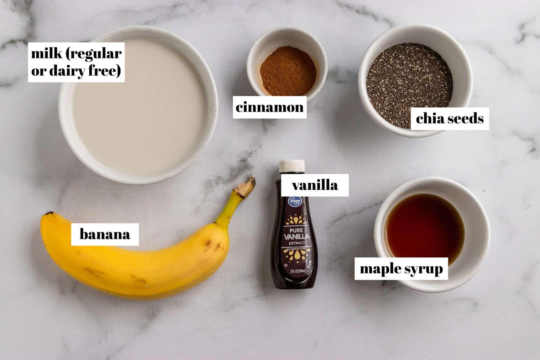 Ingredients to make recipe on counter.
