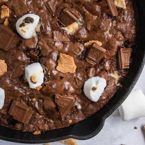 S'mores brownie skillet.