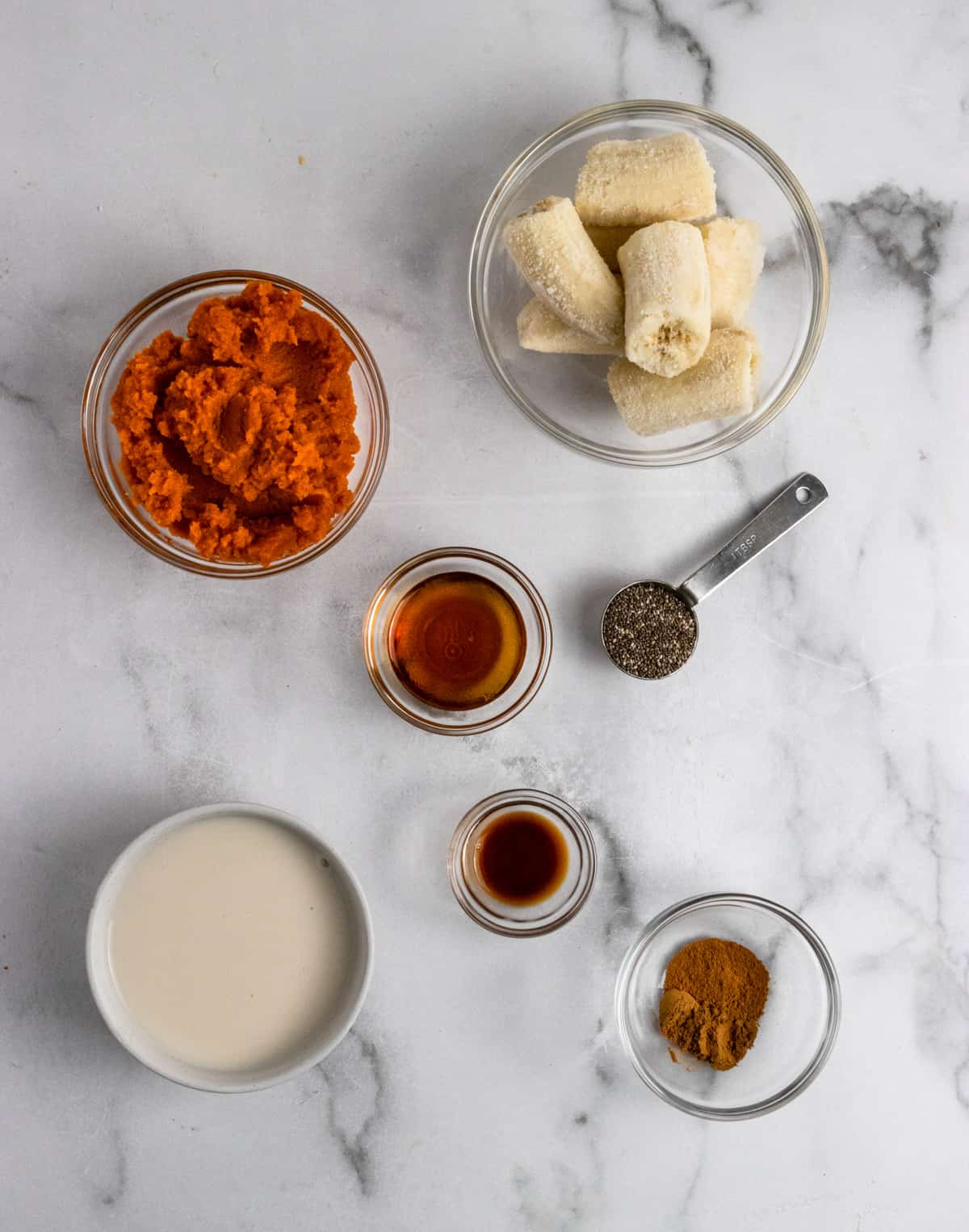 Recipe ingredients on counter.