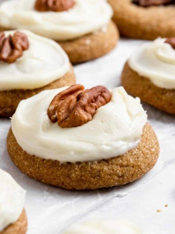 Pumpkin spice cookies with icing.