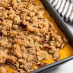 Butternut Squash Casserole in pan.