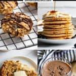 Banana pancakes, banana bread and other banana recipes.