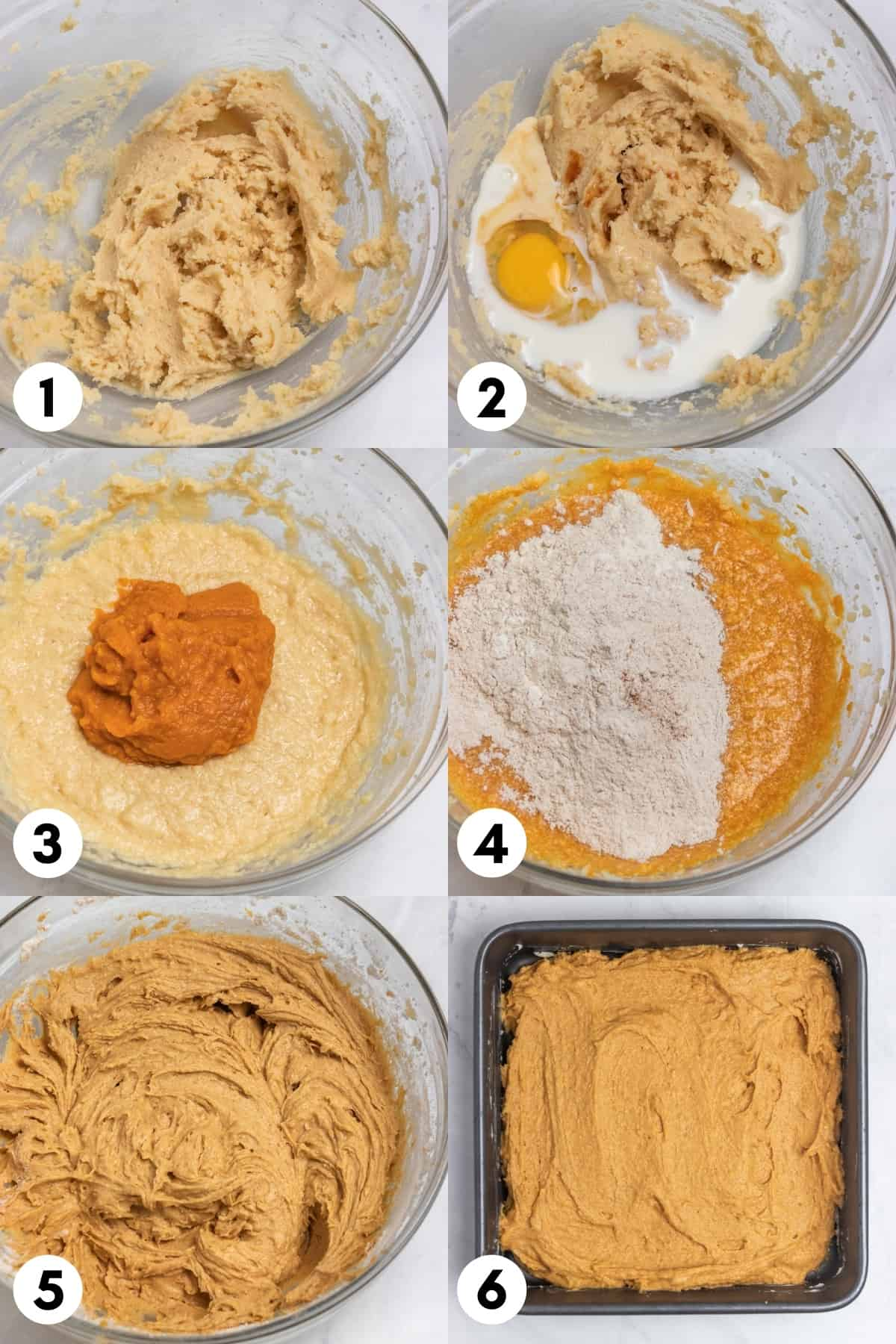 Step by step photos on how to make coffee cake recipe with pumpkin.